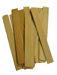 Wood mixing paddles for mixing resin