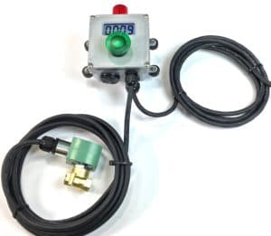 Timer with solenoid valve