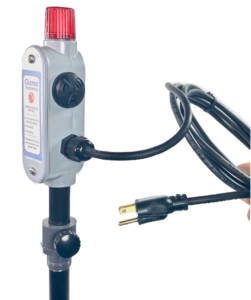 Liquid level alarm with power cord