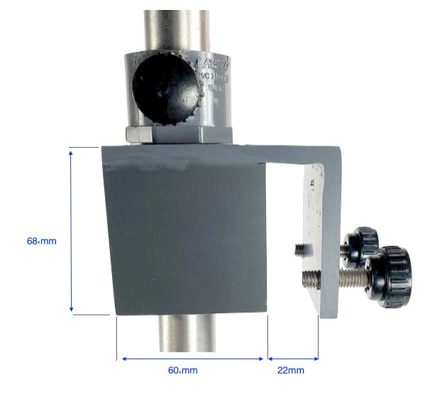 Rim-mounting bracket for tank alarm